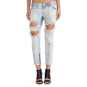 One by One Teaspoon Trashed Free Birds Jeans